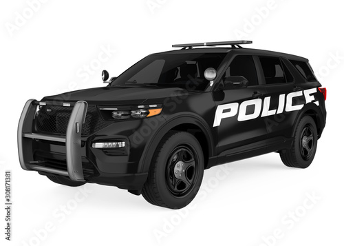 Police Car Isolated Fototapet