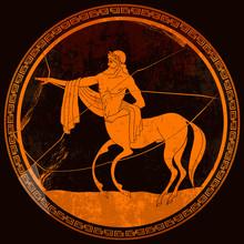 Centaur. Meander Circle Style....
