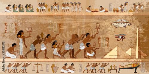 Ancient Egypt art Fototapet