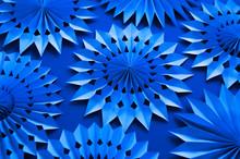 Trendy Blue Monochrome Christm...
