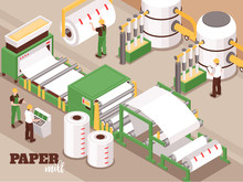 Paper Factory Isometric Compos...