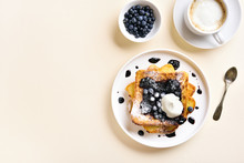 French Toasts With Blueberry S...