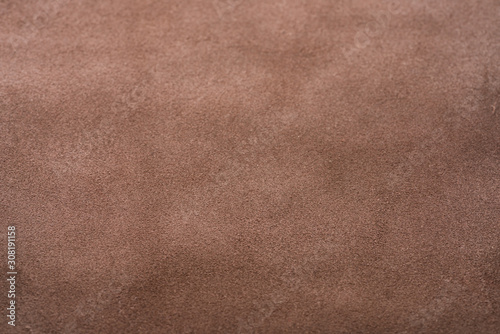 Photo Back side of brown full grain leather background