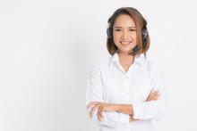 Call Center Operator Woman Sho...