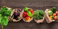 Set Of Fresh Vegetables In Dif...