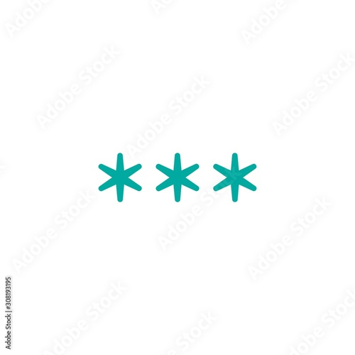 three blue asterisks footnote icon Wallpaper Mural