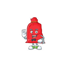 Santa Bag Close Character On A Stylized Waiter Look