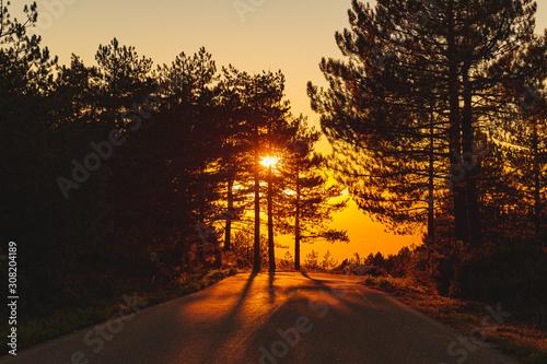 Fototapety, obrazy: Sunset on the Monte Limbara in Sardinia