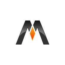 Initial Logo Letter M, Modern Logotype