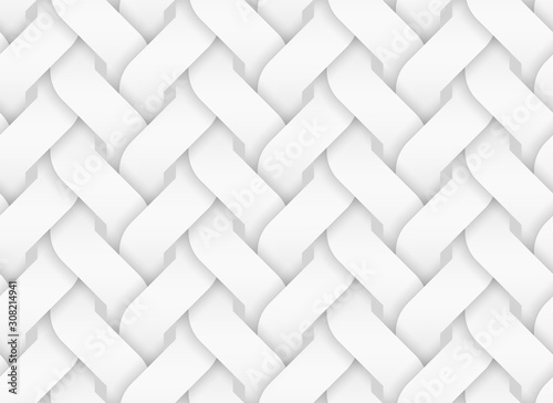 Fototapeta  Vector seamless pattern of entwined curve bands
