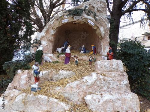 Photo Aprilia, Latina, 12/08/2019, nativity scene, crib set up in a square