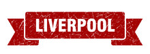 Liverpool Ribbon. Red Liverpoo...