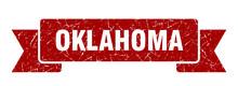 Oklahoma Ribbon. Red Oklahoma ...