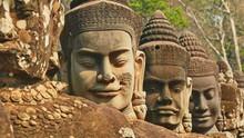 Skulptur In Ankor Wat, Wat Bay...