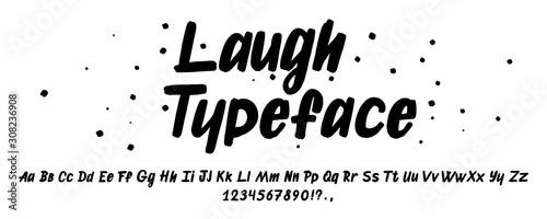 Hand drawn typeface Canvas Print