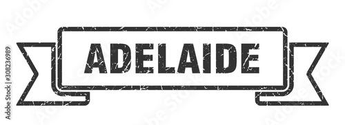 Adelaide ribbon. Black Adelaide grunge band sign Wallpaper Mural