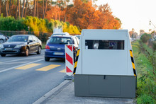 Radar Automatic Speed Control Camera On The Road Tool Of Police For Control Road Traffic
