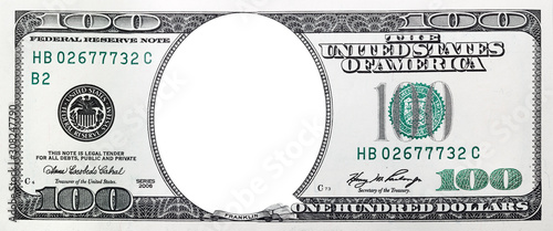 Papel de parede High resolution face one hundred dollars