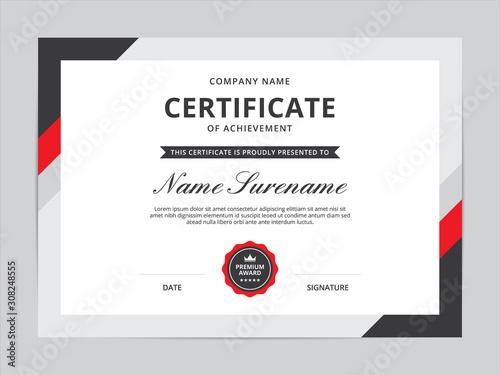 Carta da parati Certificate of Appreciation Template Design