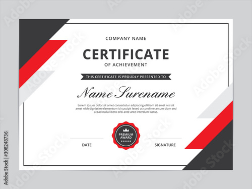Certificate of Appreciation Template Design Canvas Print