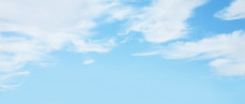 Panoramic Nature Soft Blue Sky Background