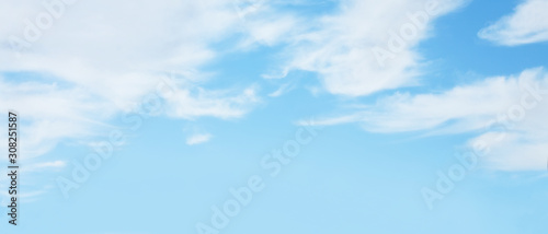 Obraz Panoramic Nature soft Blue sky background - fototapety do salonu