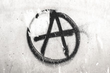 Symbol Of Anarchy Painted On A...