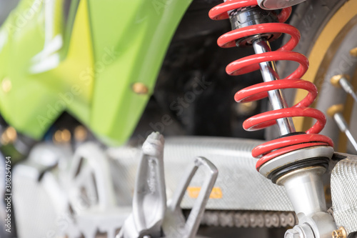 Rear shock absorber for motorcycle suspension Canvas Print