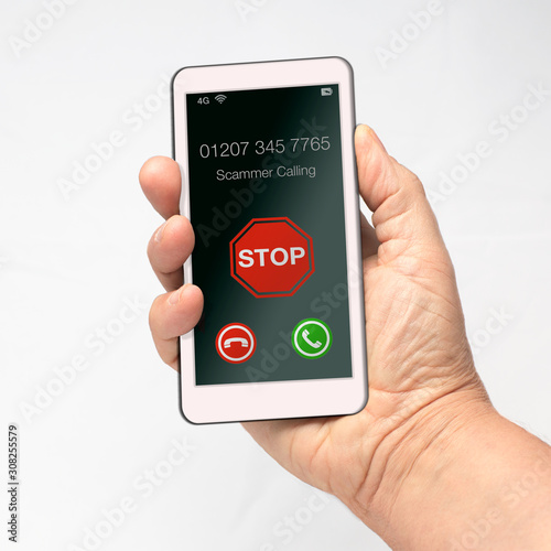 stop unwanted calls mobile cell phone scam Canvas-taulu