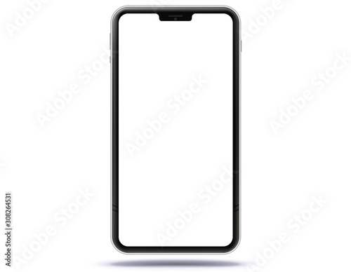 Mobile Phone New and Black Design Concept Canvas Print