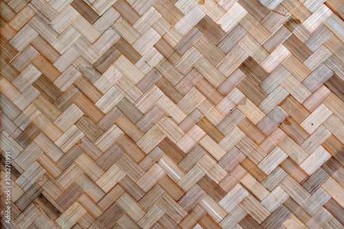 Obraz bamboo texture background, bamboo tradition handcraft weave texture for pattern background. - fototapety do salonu