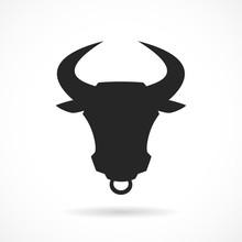 Bull Mascot Vector Icon