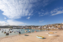 Wide View Of Boats Moored At S...