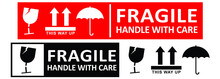 Fragile Handle With Care Sticker Or Label Collection