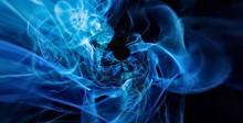 Abstract Cosmic Blue Flame Bac...