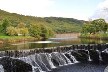 Beautiful Cwm Rheidol Lake, Dam And Waterfall, Capel Bangor, Aberystwyth