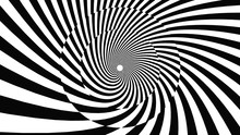 The Illustrate Of Lines Optical Illusion Background.