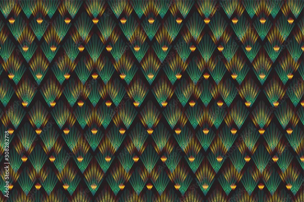 Art deco style background - illustration.