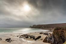Sandy Beach And Rocks Of Britt...