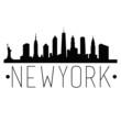 New York City Skyline Silhouette City Design Vector Famous Monuments.