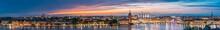 Stockholm, Sweden. Night Skyli...