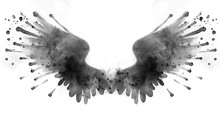 Beautiful Black Watercolor Wings Made Of Splatters