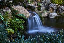 Small Waterfall Between Rocks ...