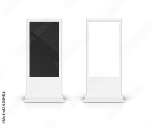 Realistic Detailed 3d Digital Signage Mockup Set. Vector Wall mural