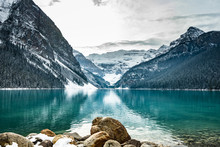 Lake Louise Panorama In Winter...