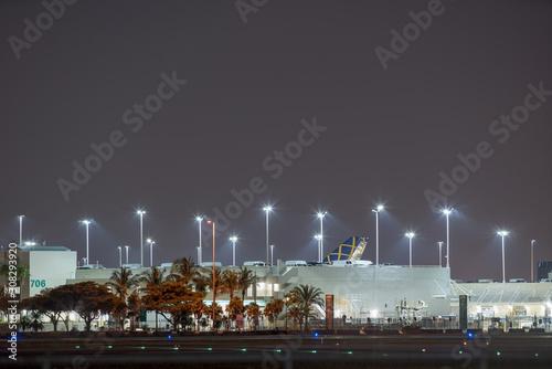 Photo  Night photo cargo area Miami International Airport