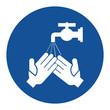 Leinwanddruck Bild - Mandatory wash your hands sign