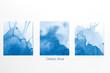 canvas print picture Palette Color 2020 classic blue pantone, on white background