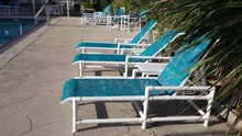 Deck Chairs Are Lined Up Pools...