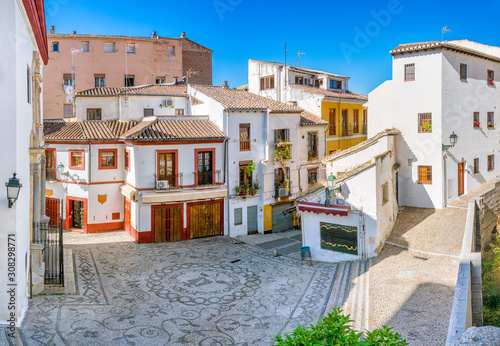 Photo The picturesque Albaicin district in Granada on a sunny summer afternoon